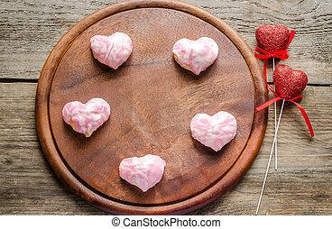 Sweet hearts on Valentine's Day celebration