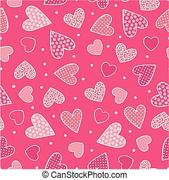 sweet hearts seamless - seamless pattern with sweet hearts...