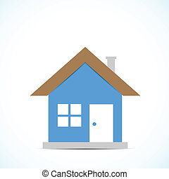 Bright background with color drawing home