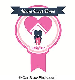 Sweet home, vector illustration