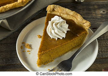 Sweet Homemade Orange Thanksgiving Pumpkin Pie