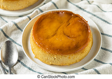 Sweet Homemade Spanish Flan Dessert