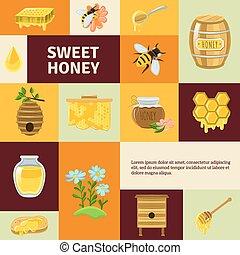 Sweet Honey Icons Set