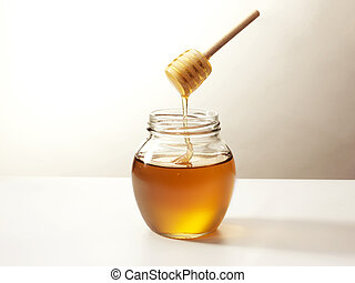 Sweet honey - Warm honey in a traditional wooden stick