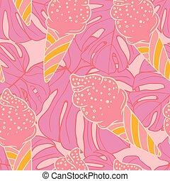 Sweet ice-cream seamless pattern design
