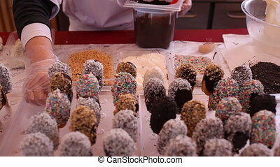View of many sweet icecream