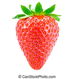Sweet Juicy Strawberry Isolated on the White Background
