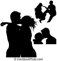 Sweet Kiss Silhouettes