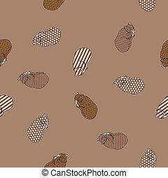 Sweet kitten seamless vector coffee pattern