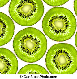 sweet kiwi slices background