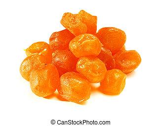 Sweet kumquat on white background