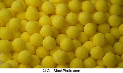 Sweet lemon candy Mixed of Snack Sugar rotate background....