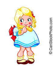Sweet little girl - Shy little curly sweet baby girl ...