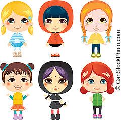 Sweet Little Girls - Six sweet little girls from diverse...