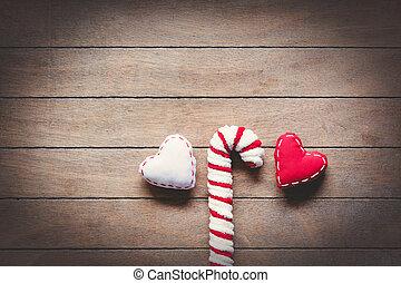 Sweet lollipop and heart shape toys