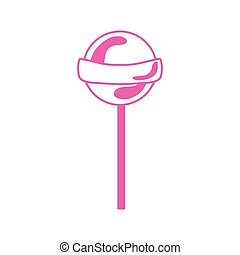 sweet lollipop candy isolated icon