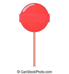 sweet lollipop on white background