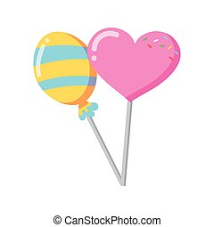 sweet lollipops candy