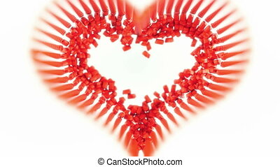 Red Candies heart shape