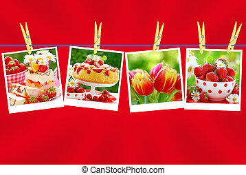 sweet love collection on red background - sweet love...