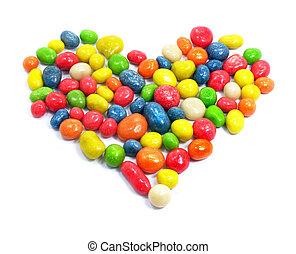 Sweet love heart candies