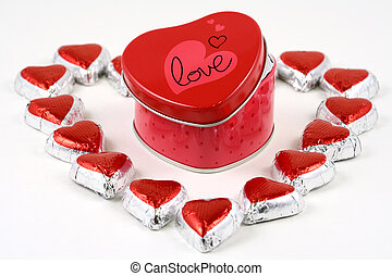 Sweet love - Heart-shaped box with heart-shaped chocolates