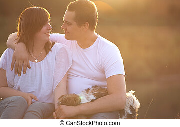 Sweet loving couple
