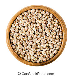 Sweet lupin beans in a bowl - Sweet lupin beans in a wooden...