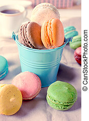 Sweet macaroon cookies - Group of traditional French ...
