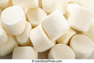 Sweet marshmallow on white background