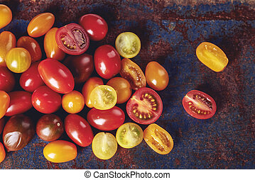 Sweet multi colored tomatoes