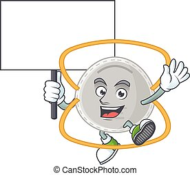 Sweet N95 mask cartoon character rise up a board
