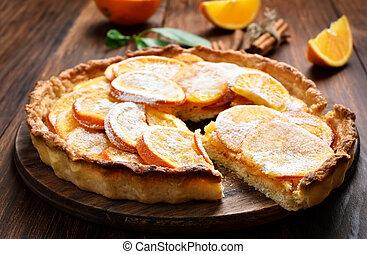 Sweet orange pie