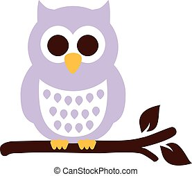 Sweet Owl sitting on a branch