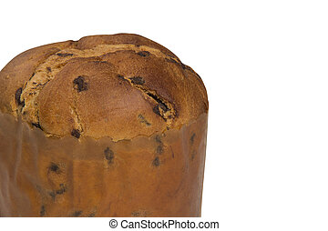 Sweet panettone, typical Italian dessert for Christmas