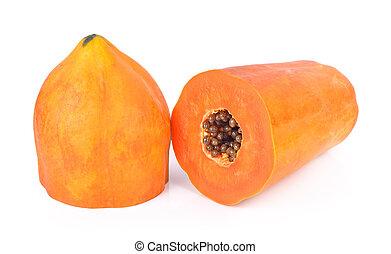 sweet papaya isolated on white background