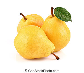 Sweet pear with leaf