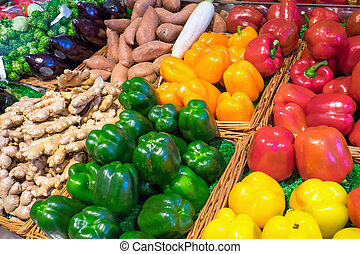 Sweet pepper and other vegetables