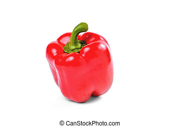 sweet pepper, fresh natural red pepper on a white background
