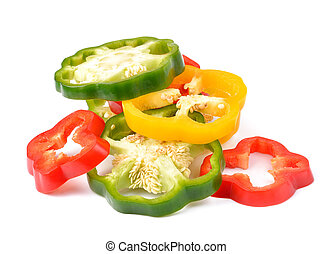 sweet pepper isolated on white background.