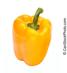 Sweet pepper (paprika) isolated on a white background