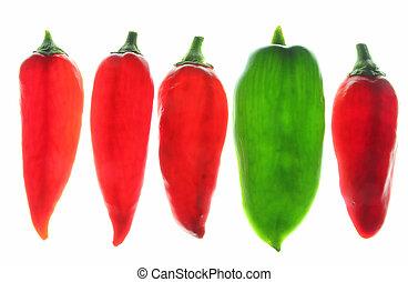 Sweet peppers (Capsicum annuum)