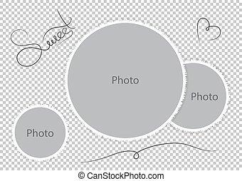 Sweet photoframes template wedding photo
