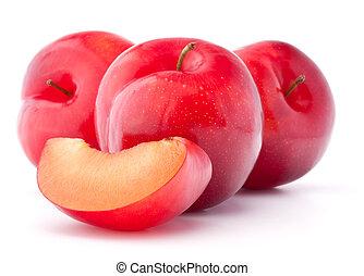 Sweet plum isolated on white background cutout - Sweet plum...