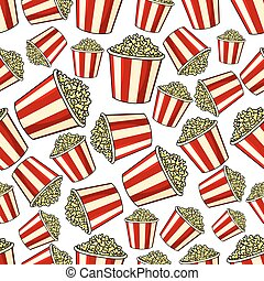 Sweet popcorn seamless pattern background