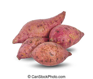 sweet potato an isolated on the white background
