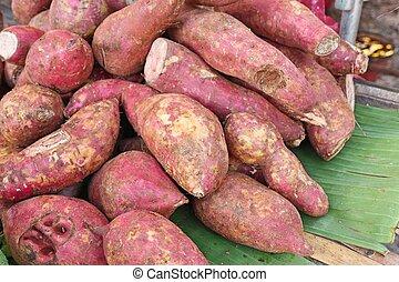 Sweet potato at street food