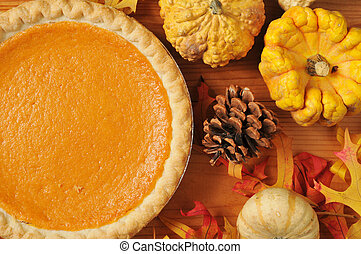 Sweet potato pie - Ariistic photo of sweet potato pie, or...