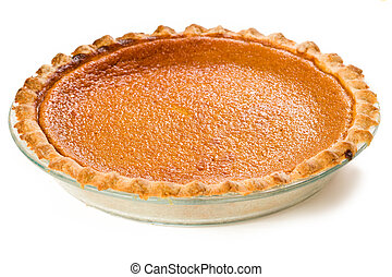 Sweet Potato Pie isolated on white