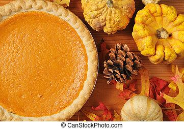 Sweet potato pie - Ariistic photo of sweet potato pie, or...